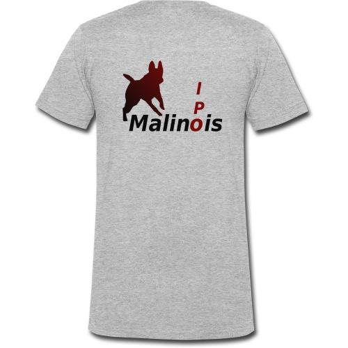 IPO Malinois Männer T-Shirt V Ausschnitt - Männer Bio-T-Shirt mit V-Ausschnitt von Stanley & Stella