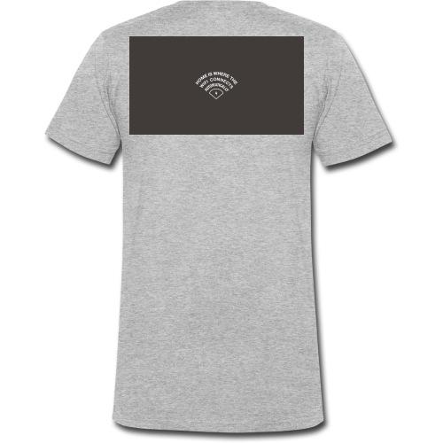 HOME IS WHERE THE WIFI CONNECTS AUTOMATICALLY - Økologisk Stanley & Stella T-shirt med V-udskæring til herrer