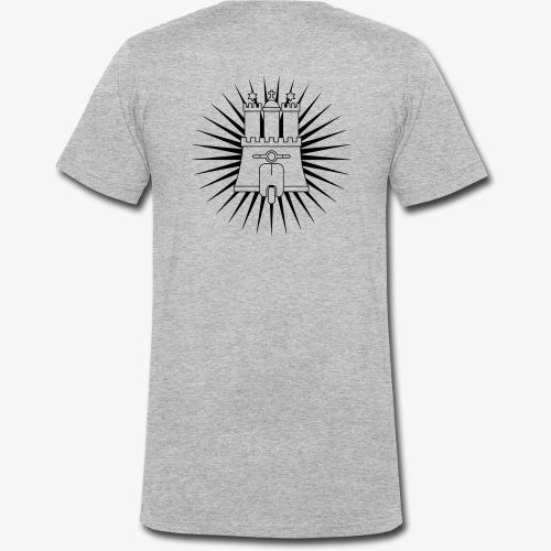 Hamburg rollt! 1-farbig - Männer Bio-T-Shirt mit V-Ausschnitt von Stanley & Stella