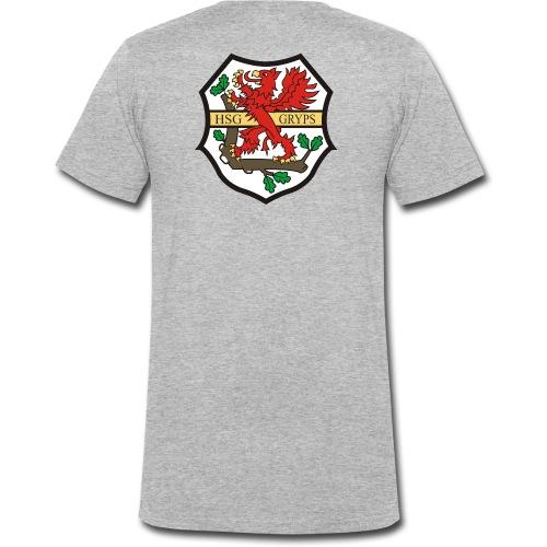 HSG Logo Rücken groß - Männer Bio-T-Shirt mit V-Ausschnitt von Stanley & Stella