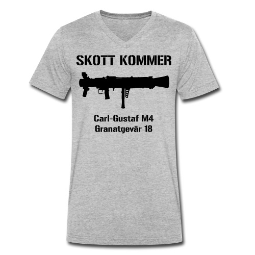 SKOTT KOMMER - KLART BAKÅT - SWE Flag - Ekologisk T-shirt med V-ringning herr från Stanley & Stella