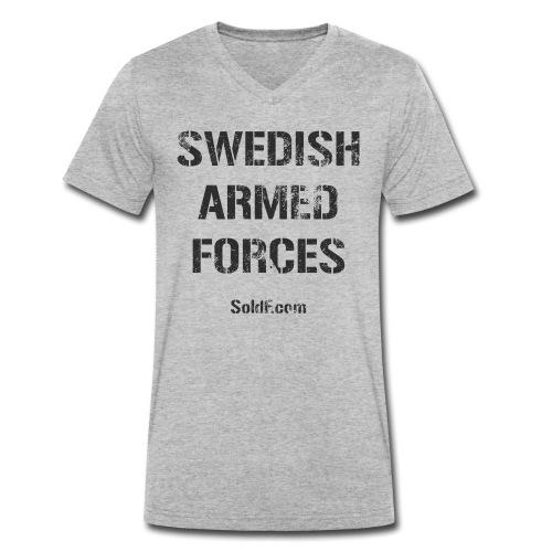 Swedish Armed Forces + SWE FLAG - Ekologisk T-shirt med V-ringning herr från Stanley & Stella