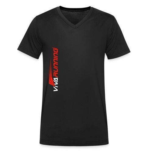 TIENDA VIVA RUNNING - Camiseta ecológica hombre con cuello de pico de Stanley & Stella