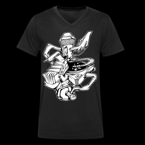 The Real HipHop Elements - Männer Bio-T-Shirt mit V-Ausschnitt von Stanley & Stella