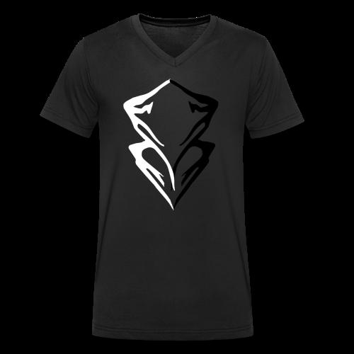 Summit Mountain Logo - Men's Organic V-Neck T-Shirt by Stanley & Stella