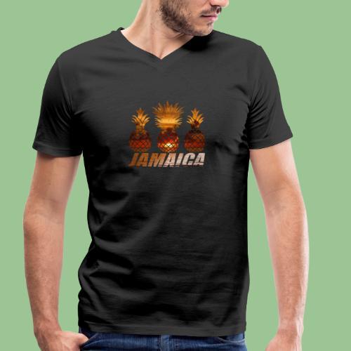 Jamaica Ananas Sunset Print - Männer Bio-T-Shirt mit V-Ausschnitt von Stanley & Stella