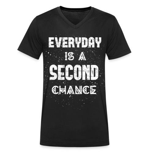 Everyday Is A Second Chance - Männer Bio-T-Shirt mit V-Ausschnitt von Stanley & Stella