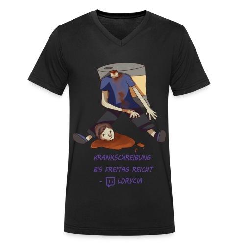 Krankschreibung bis Freitag reicht - Lorycia - Männer Bio-T-Shirt mit V-Ausschnitt von Stanley & Stella