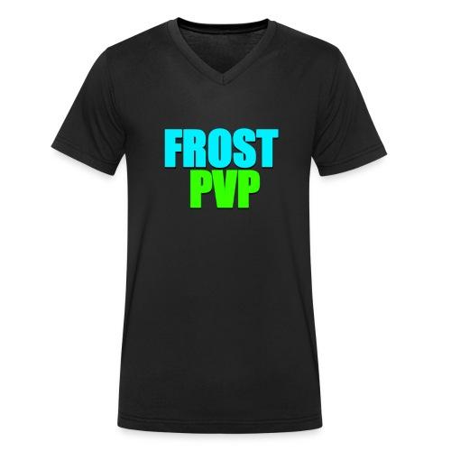 FrostPvP - Økologisk T-skjorte med V-hals for menn fra Stanley & Stella