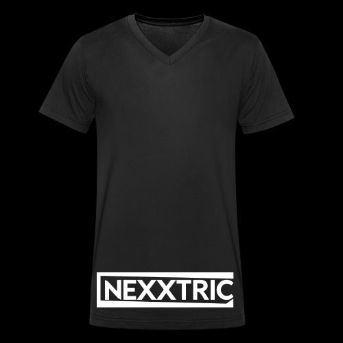 logo blanc NEXXTRIC - T-shirt bio col V Stanley & Stella Homme