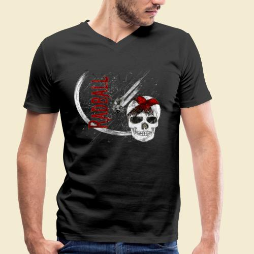 Radball | Cycle Ball Skull - Männer Bio-T-Shirt mit V-Ausschnitt von Stanley & Stella