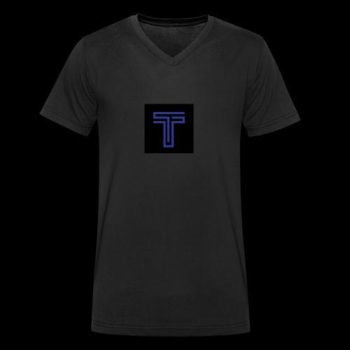 YT logo design - Men's Organic V-Neck T-Shirt by Stanley & Stella