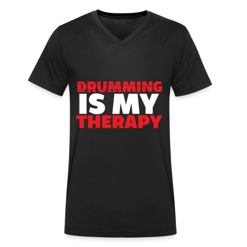 drumming therapy - Men's Organic V-Neck T-Shirt by Stanley & Stella
