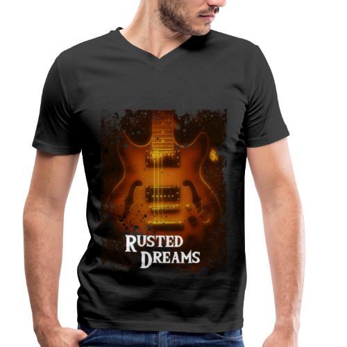 Rusted Dreams   Guitar Artwork - T-shirt ecologica da uomo con scollo a V di Stanley & Stella