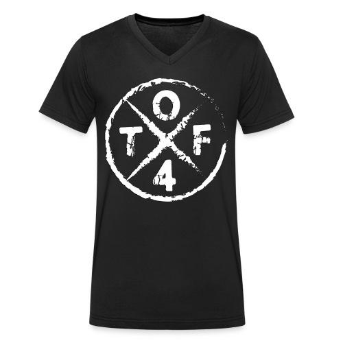 O4TF logo - Männer Bio-T-Shirt mit V-Ausschnitt von Stanley & Stella