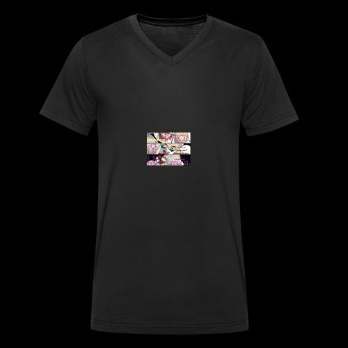 Prawdziwa milosc - Ekologiczna koszulka męska z dekoltem w serek Stanley & Stella