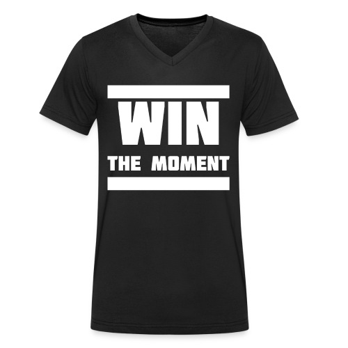 Win the moment Motiv/Weiß - Männer Bio-T-Shirt mit V-Ausschnitt von Stanley & Stella