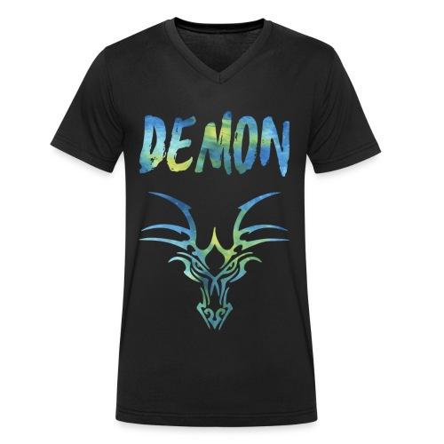Demon - Drachen - Männer Bio-T-Shirt mit V-Ausschnitt von Stanley & Stella