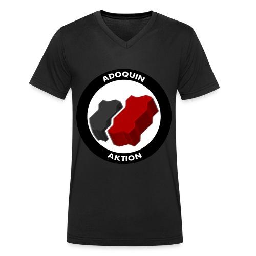 Adoquin Aktion - Camiseta ecológica hombre con cuello de pico de Stanley & Stella