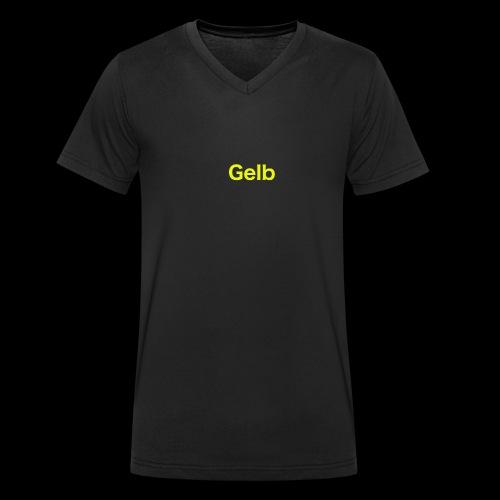 Gelb - Männer Bio-T-Shirt mit V-Ausschnitt von Stanley & Stella