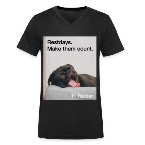 Restday Triathlon Shirt - Männer Bio-T-Shirt mit V-Ausschnitt von Stanley & Stella