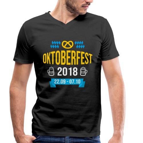 Oktoberfest 2018 Bayern Bierfest Bier München - Männer Bio-T-Shirt mit V-Ausschnitt von Stanley & Stella