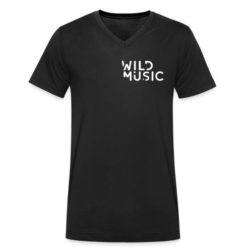 Wild Music Logo - Blanco - Camiseta ecológica hombre con cuello de pico de Stanley & Stella