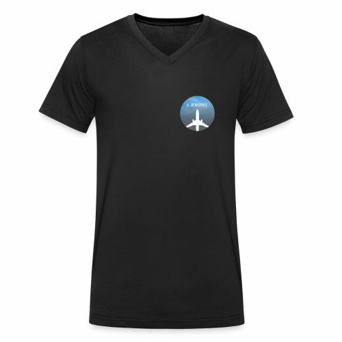 LL Aerospace Official Logo - Men's Organic V-Neck T-Shirt by Stanley & Stella