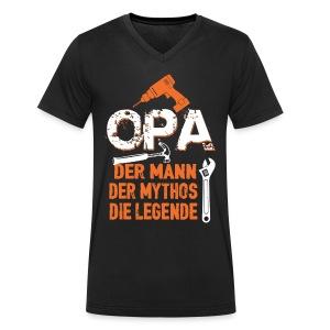 opa der mann der mythos die legende - bester opa - T-shirt bio col V Stanley & Stella Homme