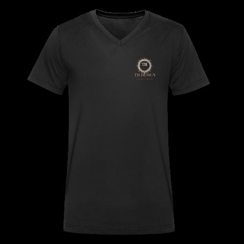 TH Design Elegant - Männer Bio-T-Shirt mit V-Ausschnitt von Stanley & Stella