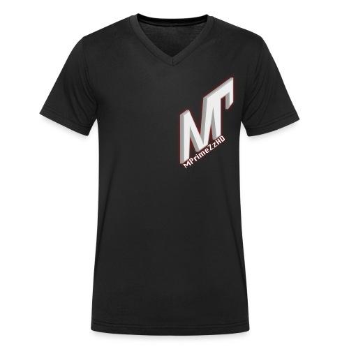 MP weiss rot - Männer Bio-T-Shirt mit V-Ausschnitt von Stanley & Stella
