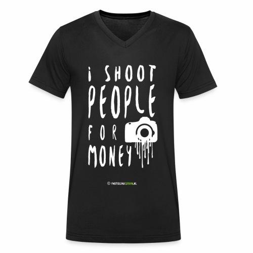 I shoot people! - Mannen bio T-shirt met V-hals van Stanley & Stella