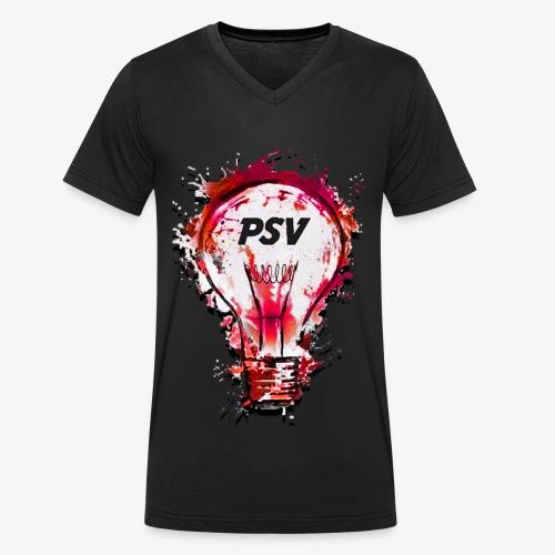 light bulb psv - Mannen bio T-shirt met V-hals van Stanley & Stella