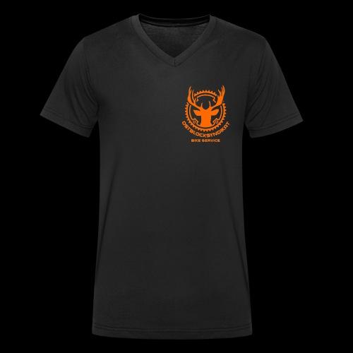 LOGO Orange - Männer Bio-T-Shirt mit V-Ausschnitt von Stanley & Stella