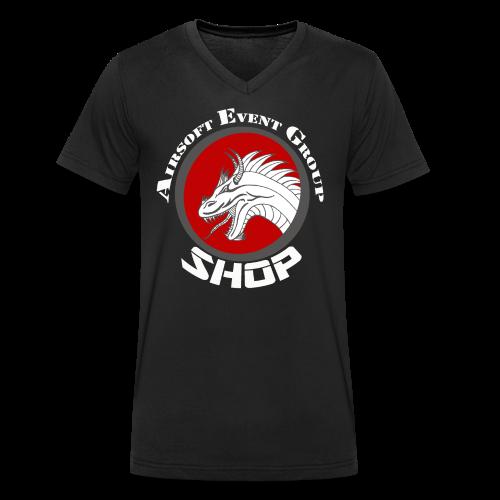 SHOP LOGO MIT SCHRIFT grau - Männer Bio-T-Shirt mit V-Ausschnitt von Stanley & Stella