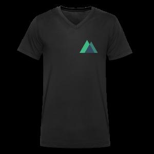 Mountain Logo - Men's Organic V-Neck T-Shirt by Stanley & Stella