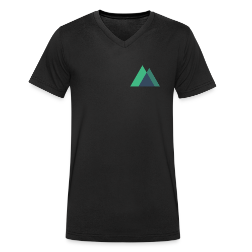Mountain Logo - Men's Organic V-Neck T-Shirt by Stanley & Stella