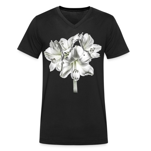 Amarylis - Mannen bio T-shirt met V-hals van Stanley & Stella