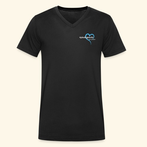 #pferdegerecht weiß Name - Männer Bio-T-Shirt mit V-Ausschnitt von Stanley & Stella