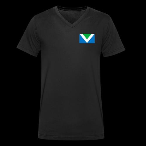 Vegan Flag International - Männer Bio-T-Shirt mit V-Ausschnitt von Stanley & Stella