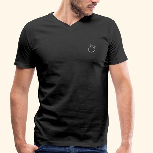 Smiley face - Camiseta ecológica hombre con cuello de pico de Stanley & Stella