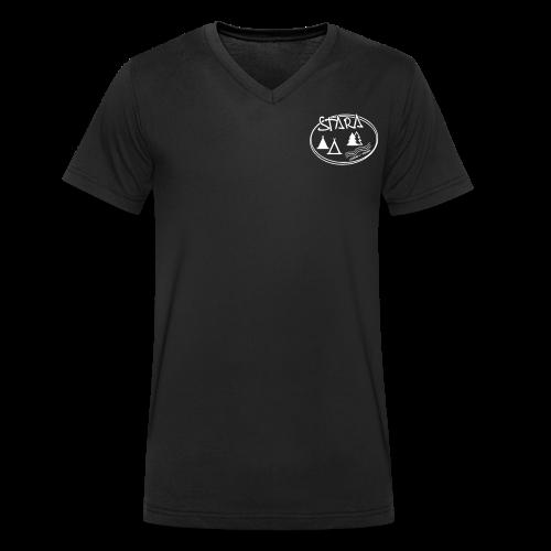 Stara Logo - Männer Bio-T-Shirt mit V-Ausschnitt von Stanley & Stella