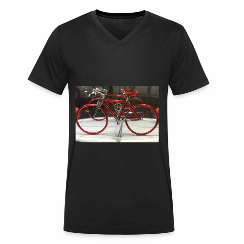 rood fietsje - Mannen bio T-shirt met V-hals van Stanley & Stella