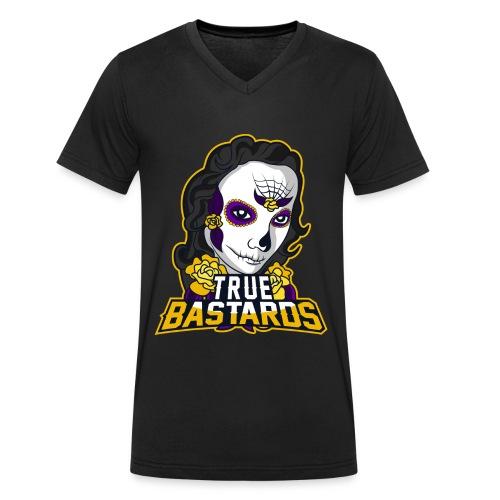 True-Bastards - Logo - Männer Bio-T-Shirt mit V-Ausschnitt von Stanley & Stella