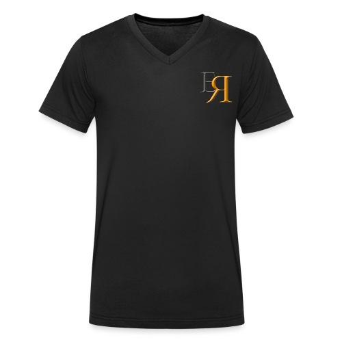 EnRakker Logo - Økologisk T-skjorte med V-hals for menn fra Stanley & Stella