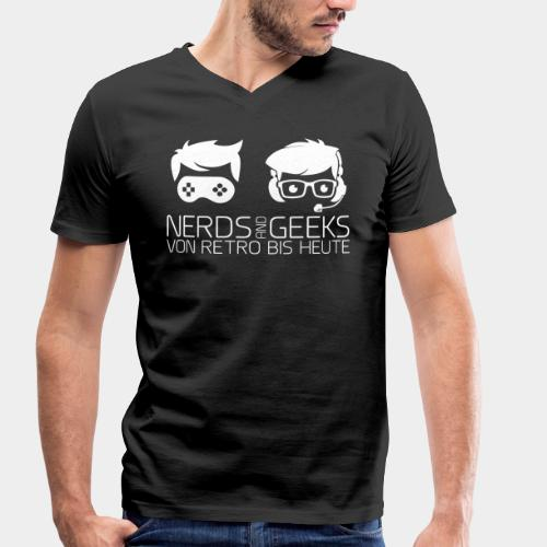Nerds and Geeks - Logo - Männer Bio-T-Shirt mit V-Ausschnitt von Stanley & Stella