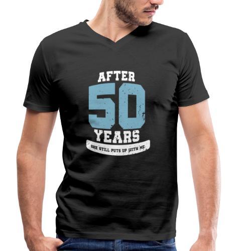 Ü50 Über 50 Jahre 50th - first - Männer Bio-T-Shirt mit V-Ausschnitt von Stanley & Stella