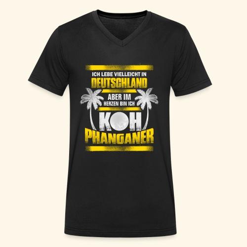 Koh Phanganer Shirt - Männer Bio-T-Shirt mit V-Ausschnitt von Stanley & Stella