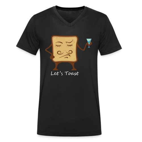 Let`s toast - Men's Organic V-Neck T-Shirt by Stanley & Stella