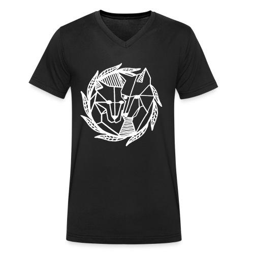 David Pucher Art Wölfe - Männer Bio-T-Shirt mit V-Ausschnitt von Stanley & Stella